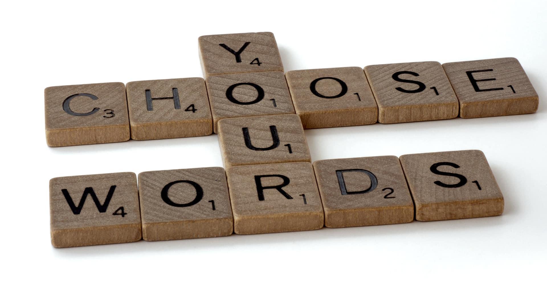 scegliere le parole